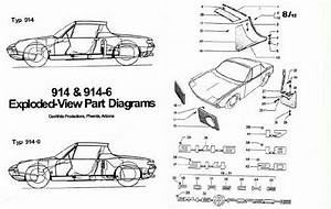 Porsche 914  U0026 914-6 Exploded-view Part Diagrams