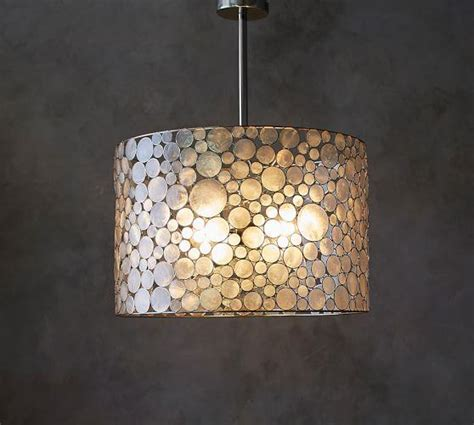 Capiz Drum Chandelier by Marina Drum Pendant