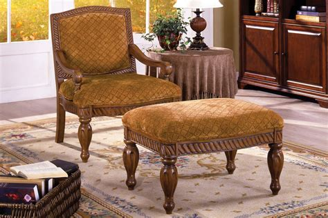 nottingham antique oak accent chair  padded fabric