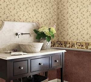 Tapeten Badezimmer Beispiele : designer tapeten und wanddekoration f rs badezimmer ~ Markanthonyermac.com Haus und Dekorationen