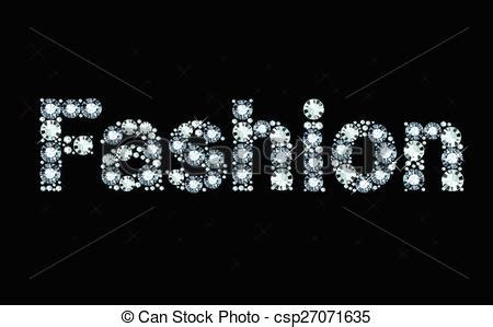 home design diamonds word fashion word fashion made of shiny diamonds