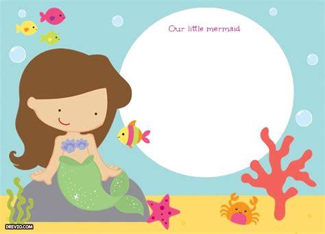 Mermaid Template Updated Free Printable Ariel The Mermaid