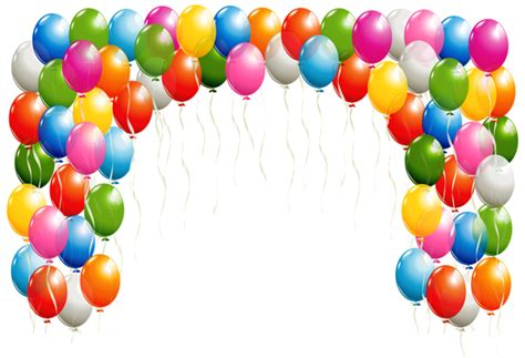Transparent Balloons Arch Clipart Image Gallery