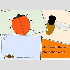 Minibeast Themed Playdough Mats