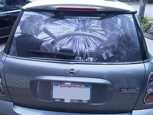 star wars millennium falcon rear window graphic With auto window lettering