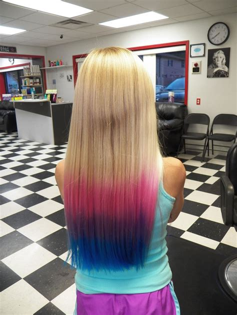 Pink Purple And Blue Ombre Can I Get This HΔir ΔΠd