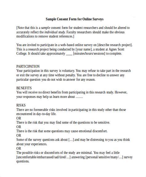 15278 survey consent form template 10 survey consent forms sle templates