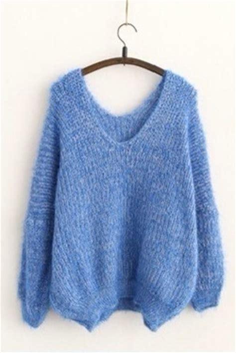Sweater sky blue jumper knit blue jumper tumblr fashion light blue oversized sweater ...