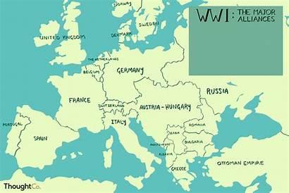 War Map Europe Ww1 Alliances 1914 Major