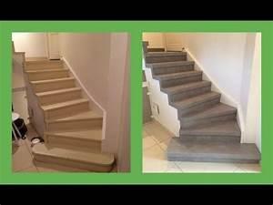 renover escalier decor beton cire youtube With superb peindre un escalier bois 5 recouvrir un escalier en carrelage