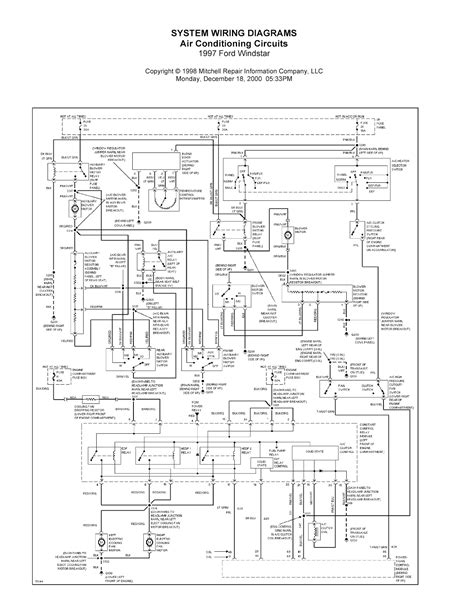 2003 Ford F650 Headlight Wiring Diagram by 1997 Ford Windstar Complete System Wiring Diagrams