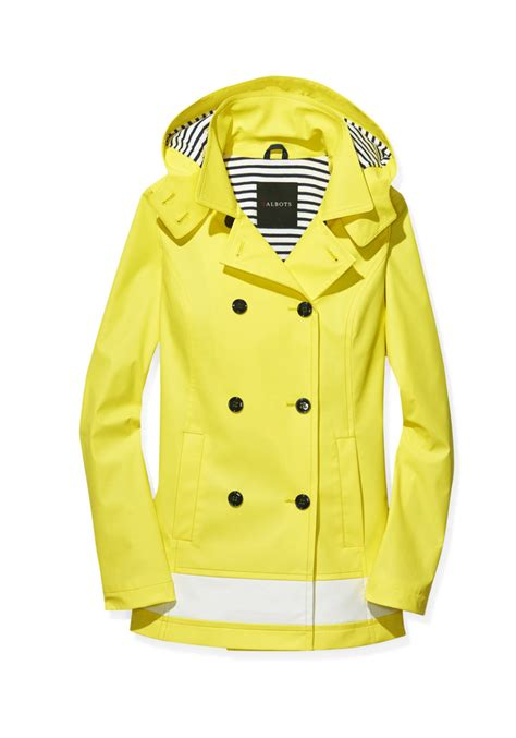 Talbots- Classic Hooded Raincoat in Sunray