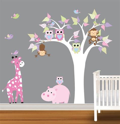 deco murale chambre bebe fille déco hibou chambre fille