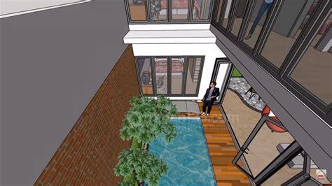 siapa bilang rumah kecil gak bisa punya kolam renang