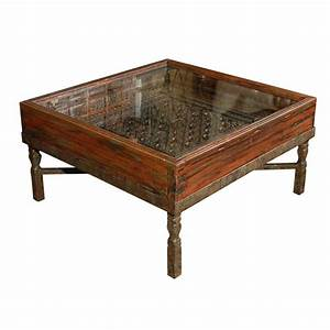 carved indian window made into a coffee table at 1stdibs With indian carved coffee table
