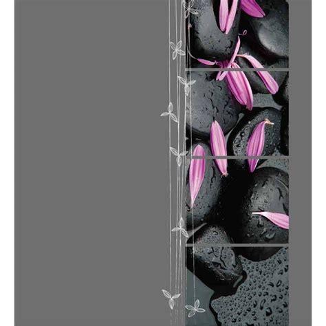 rideau de polyester 180x200cm zen gris fonc 233