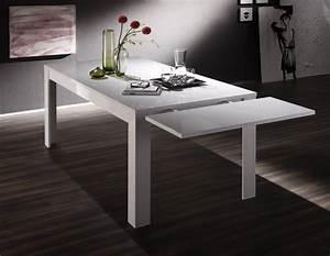 Salle A Manger Blanc Laqué : table de salle manger design laqu blanc judy matelpro ~ Dallasstarsshop.com Idées de Décoration