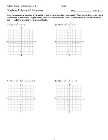 graphing polynomials worksheet  printable worksheets