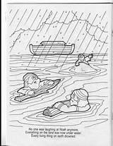 Noah Flood Coloring Colouring Sketchite sketch template