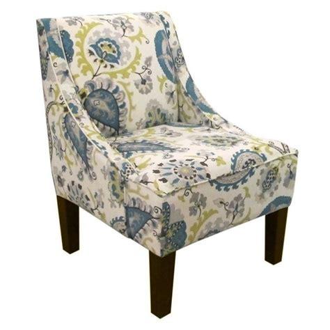 skyline upholstered swoop fabric arm chair in ladbroke
