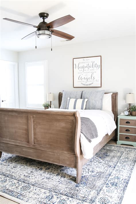 Guest Bedroom Furniture by Blue Cottage Style Guest Bedroom Makeover Reveal Bless