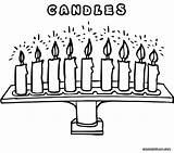 Candle Coloring Pages Chandelier Colorings sketch template