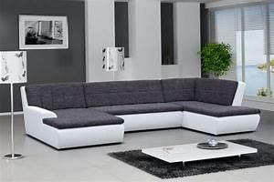 Canape Gris Et Blanc : photos canap gris et blanc design ~ Melissatoandfro.com Idées de Décoration