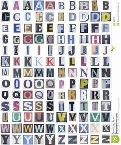 Newspaper alphabet upper stock photo image of crime for Alphabet photo letters