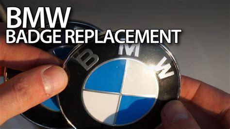 replacing bmw bonnet badge emblem youtube