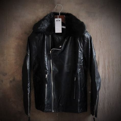 cheap motorcycle jackets for men pu leather jacket men faux fur coat winter leather jackets