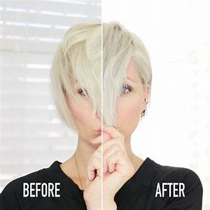 blue shampoo before and after