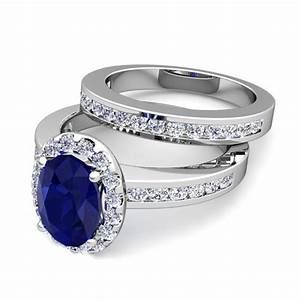 create your own halo engagement ring bridal set with gemstones With build your own wedding ring set