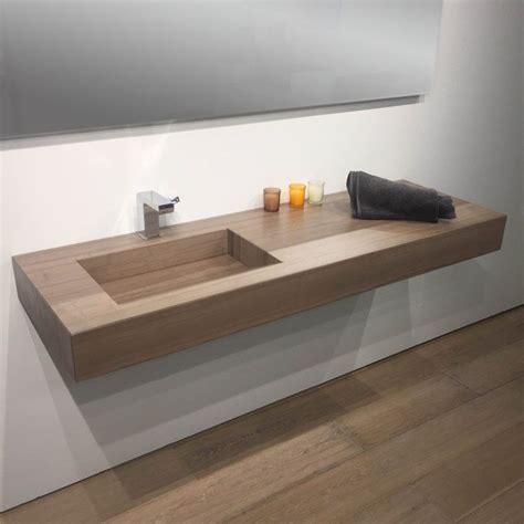 plan vasque salle de bain suspendu 141x46 cm vasque excentr 233 e
