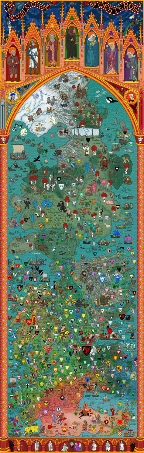 detailed map  westeros essos ive