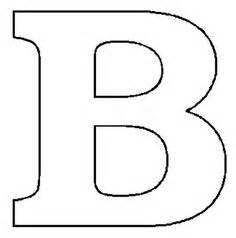 block letter b free printable block letter stencils stencil letters a 29537