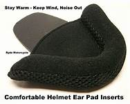 Earpad in a helmet for extra comfort