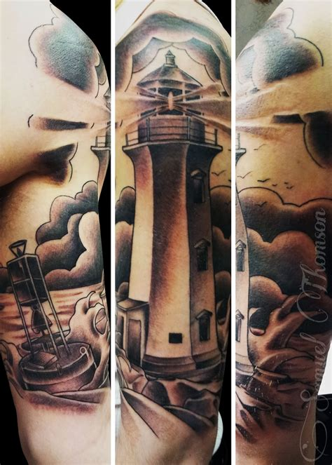awesome lighthouse tattoos  legs