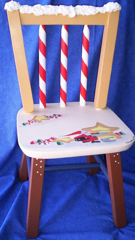 childs painted christmas chair painted kids chairs