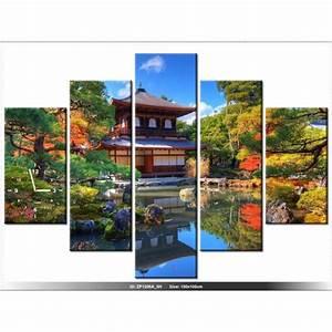 Deco Jardin Japonais : 150 x105 cm paysage jardin japonais horloge murale ~ Premium-room.com Idées de Décoration