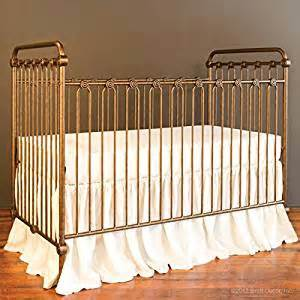bratt decor baby crib vintage gold baby