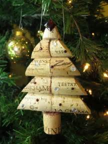 wine cork christmas tree ornament large size