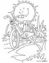 Coloring Bicycle Bike Sun Cartoon Mountain Safety Sheets Racing Against Printable Activity Bestcoloringpages Popular Coloringhome Getcolorings Recognition Develop Creativity Ages sketch template