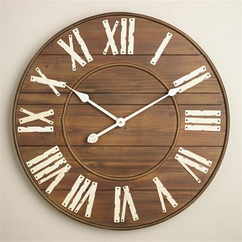 34 wooden wall clocks to slatted wood wall clock world market