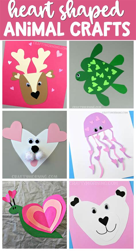 cutest shape animal crafts for s day 576 | 7095699c057600a2063780d2531857f2