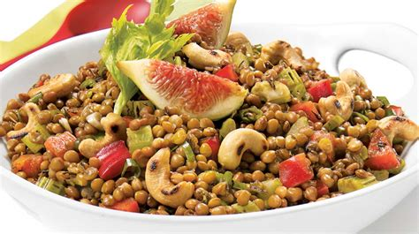 recette cuisine rapide et simple salade de lentilles méditerranéenne recettes iga