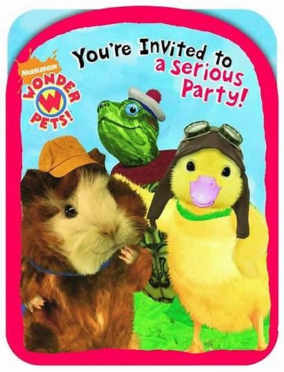 Wonder Pets Invitations Supplies 8pcs