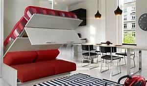 Canapé Chez Ikea : lit escamotable avec canape integre ikea recherche google lit escamotable pinterest lit ~ Teatrodelosmanantiales.com Idées de Décoration
