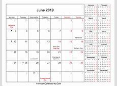 June 2019 Calendar PDF monthly printable calendar