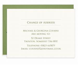 roman leaf letterpress change of address cards blush With change of address photo cards