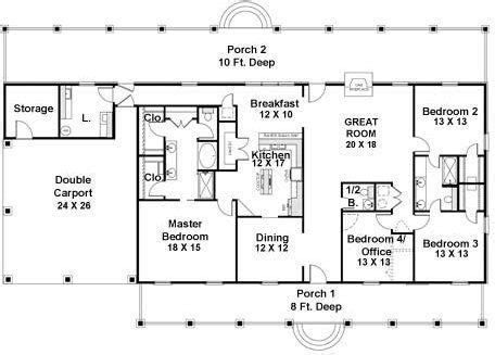 4 Bedroom 2 Bath Coastal House Plan #ALP 03YE
